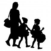 An image of a family going to a dance recital.