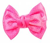 Dotted bow tie pink with white spots