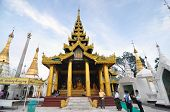 Yangon, Myanmar - October 11: Unidentified Pilgrims On The Trail Around Golden Shwedagon Pagoda