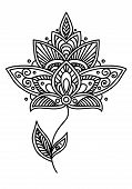 Ornate persian floral design element