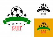 Football or soccer emblem