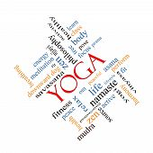 Yoga Word Cloud Concept Angled