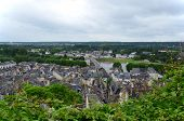 picture of anjou  - Roofs of Chinon town Vienne valley France