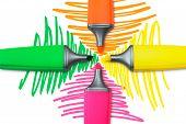 Four Highlighter Pens