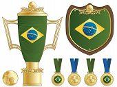Brazil Football Trophies