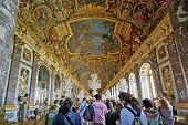Tourists Visiting Versailles Palace