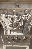 LONDON, UK - MAY 14, 2014: Symbol of Commerce. Decorative element Government building, Parliament s