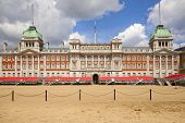 LONDON, UK - MAY 14, 2014  - Ministry of Defence, Admiralty House, Household Cavalry Museum, Horse G