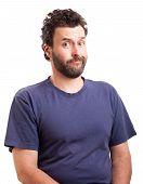 Portrait Of Bearded European Man