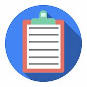Circle Blue Icon With Shadow. Phone Address Book