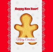 Christmas Cookies In The Shape Of A Gingerbread Man Vector