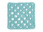 Crochet Doily - Light Blue Granny Square