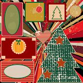 Vintage Christmas Background With Frames
