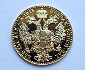 gold coin, the ducat, Austria - Hungary
