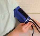 Measurement of blood pressure.
