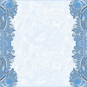 blue colour unusual floral ornamental template