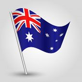 Vector 3D Waving Australian Flag