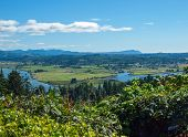 foto of coxcomb  - A View of the Astoria Oregon Area from Coxcomb Hill the Location of the Astoria Column - JPG