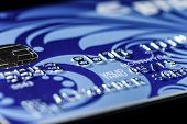 image of plastic money  - Plastic credit card macro view money and finance - JPG