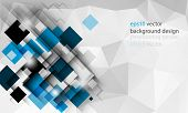 eps10 vector geometric triangular elements business background