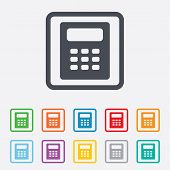 Calculator sign icon. Bookkeeping symbol.