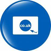 Domain Co.uk Sign Icon. Uk Internet Subdomain Symbol