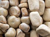 A Heap Of White Pebble Rocks