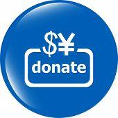 Donate Sign Icon. Dollar Usd And Yen Symbol