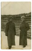 MOSCOW, RUSSIA, -  CIRCA 1900s: Antique photo, portrait of a soldiers of the royal army.