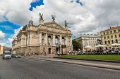 Academic Opera And Ballet Theatre In Lviv, Ukraine.