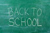 Back to School handwritten on the chalkboard