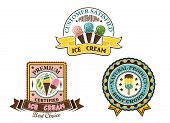 Ice cream badges and labels