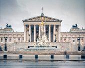 Austrian Parliament in Vienna, Austria