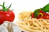 Spaghetti with tomato poster