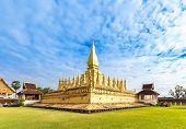 Golden Wat Thap Luang In Vientiane, Laos.