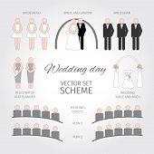 Vector Set Wedding day. infographic