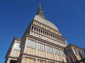 stock photo of torino  - The Mole Antonelliana Turin Torino Piedmont Italy - JPG