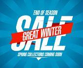 Great winter sale design in retro style.