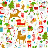 colorful chriatmas pattern