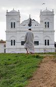 Mosque And Man In Fort Galle