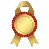Gold Button With Ribbon