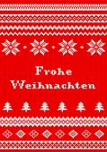 picture of weihnachten  - vector illustration of a red and white Christmas knit greeting card
