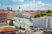 View of the entrance to the city of Venice, Piazzale Roma, July 5, 2014 in Venice, Italy, Editorial for only