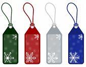 winter or christmas price tags