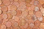 Closeup Of Coins Group