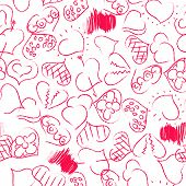 Happy Valentines Hearts Pattern