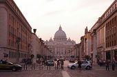 Via Della Conciliazione And Saint Peter Cathedral