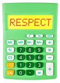 Calculator With Respect On Display Isolated