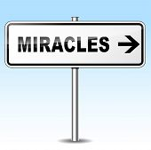 Miracles Directional Sign