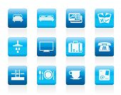 stock photo of motel  - Hotel and motel icons   - JPG